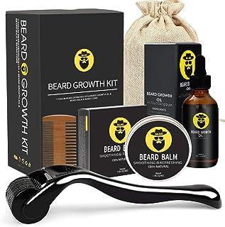 کیت رشد ریش - غلتک درما برای رشد ریش ، سرم رشد ریش ، ضدعفونی کننده و شانه ، تحریک ریش و رشد مو
