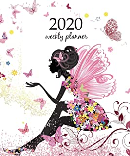 2020 Weekly Planner: Calendar Schedule Organizer Appointment Journal Notebook and Action day With Inspirational Quotes  Flower Fairy in the environment of butterflies (Weekly & Monthly Planner 2020)