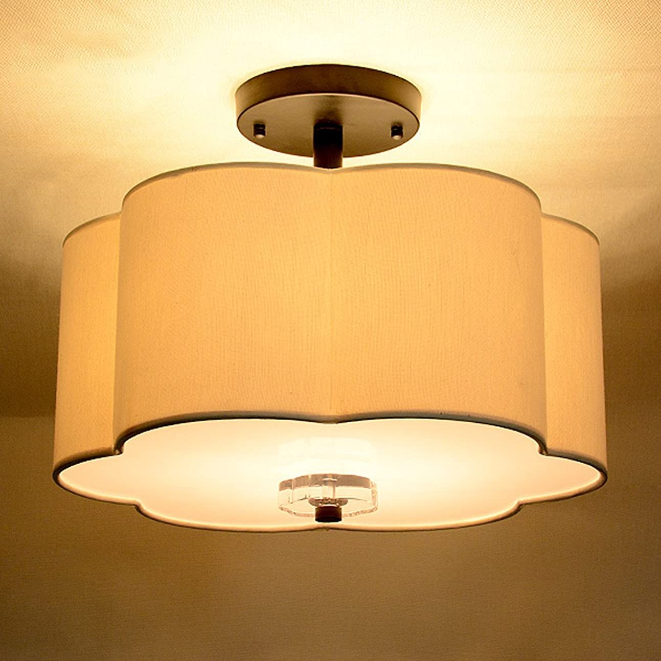 私の見ました早いYSYYSH 装飾的なシーリングライト付き天井のミニマリストスカンジナビアスタイルアメリカンカントリースタイルのベッドルームの研究天井 寝室の装飾ライト