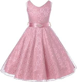 Lovely Lace V-Neck Flower Girl Dress