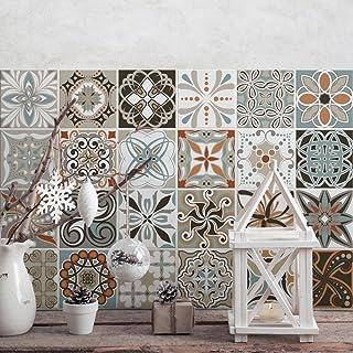 24 (Piezas) Adhesivo para Azulejos 20x20 cm - PS00009 - Decoraciones de época - Adhesivo Decorativo para Azulejos para baño y Cocina - Stickers Azulejos - Collage de Azulejos
