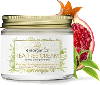 Sponsored Ad - Era Organics Tea Tree Oil Face Cream - For Oily, Acne Prone Skin, Extra Soothing & Nourishing Non-Greasy Bo...
