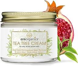 کرم صورت Tea Tree Oil - برای پوست های چرب آکنه 2oz کرم مرطوب کننده پوست طبیعی و آرایشی با ترکیبات 7X برای Rosacea، Acne کیست، Blackheads و Redness