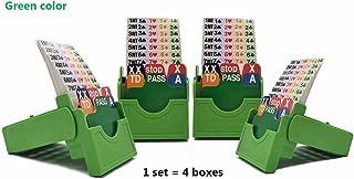 Jranter Set of 4 Bridge Bidding Boxes- Set of Four Bridge Bidding Boxes Premium Bridge Kit Bidding Device,Green
