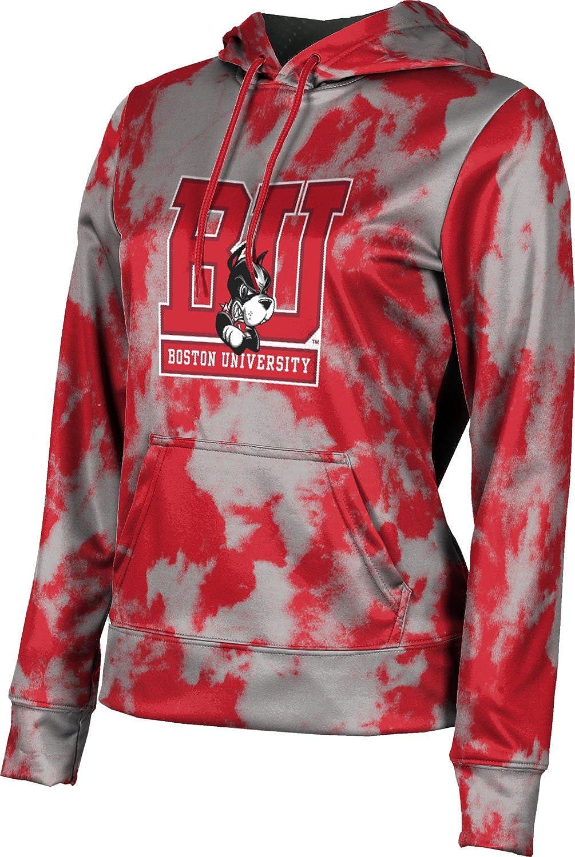 ProSphere Boston University Girls' Pullover Hoodie, School Spirit Sweatshirt (Grunge)