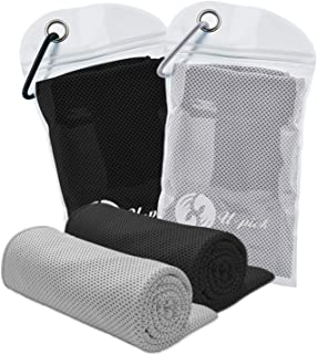 U-pick 2pack Cooling Towel for Sports,Workout,Fitness,Gym,Yoga,Pilates,Travel,Camping & More,Chilly Towel for Instant Cooling Relief 100% Microfiber and Soft Breathable 40x12