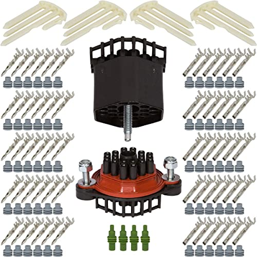 CONDUCTOR SQUARE CONNECTOR KIT 16-14 GA FIVE SETS DELPHI WEATHER PACK 4 PIN