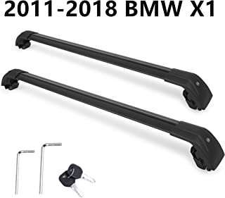 Autekcomma Roof Rack Cross Bars for BMW X1 2011 2012 2013 2014 2015 2016 2017 2018 Aircraft Aluminum Black Matte with Anti-Theft Locks Max Loading Up to 260 LB