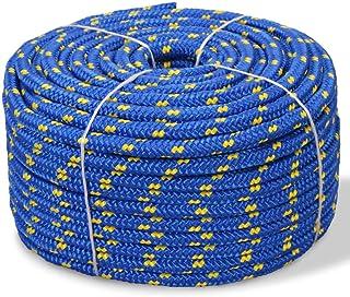 vidaXL Bootsseil Polypropylen 12mm 50m Blau Ankerleine Festmacher Tauwerk Seil