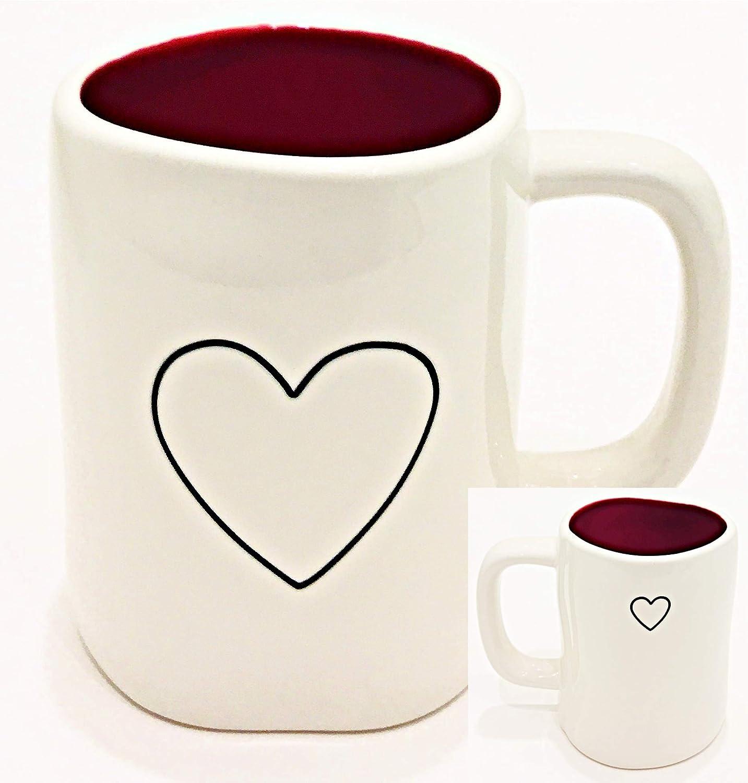 Rae 全商品オープニング価格 Dunn Magenta 今ダケ送料無料 Valentine's Day Ceramic Mug with White Red Inte