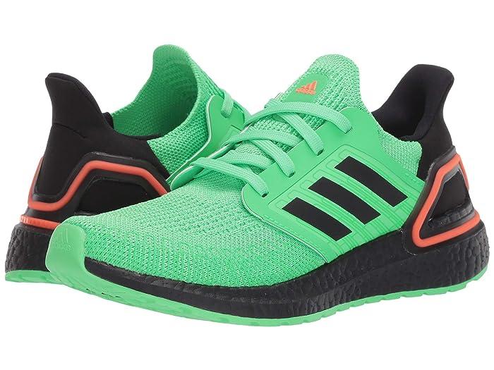 adidas Kids  UltraBOOST 20 (Big Kid) (Shock Lime/Black/Solar Orange) Kids Shoes