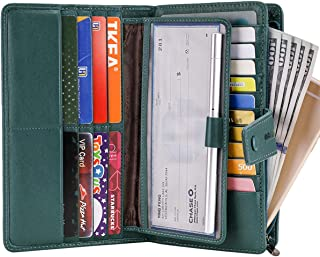 Women's Big Fat Rfid Leather wallet clutch organizer checkbook holder