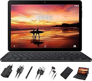 GOODTEL Tablet 10 Pulgadas Full HD Tablet Quad-Core, 4GB de RAM, 64GB de Memoria Interna, Escalable 128GB, Dual SIM Cámara Dual 8000mAh Batería Bluetooth WiFi GPS, Type-C Tablet Gris