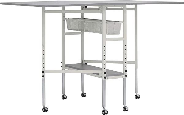 Sew Ready STDN 38011 Spree Craft Cutting Table 60 W X 36 D X 30 25 39 25 H White Grey
