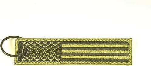 Big Rock Tags Custom Embroidered American Flag Army Green(OD,Olive Drab) Key Chain