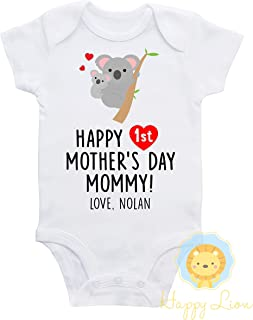 Happy Lion Clothing - First Mother's day shirt, koala, personalized first Mothers day outfit, first mothers day gift, unisex first mothers day outfit