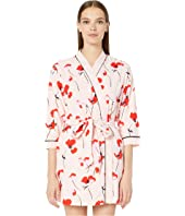 Kate Spade New York - Printed Short Terry Robe
