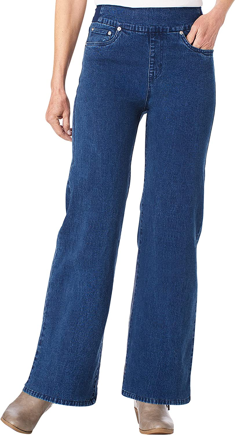 ANTHONY RICHARDS BendOver Wide-Leg Jeans One Color 16 Women