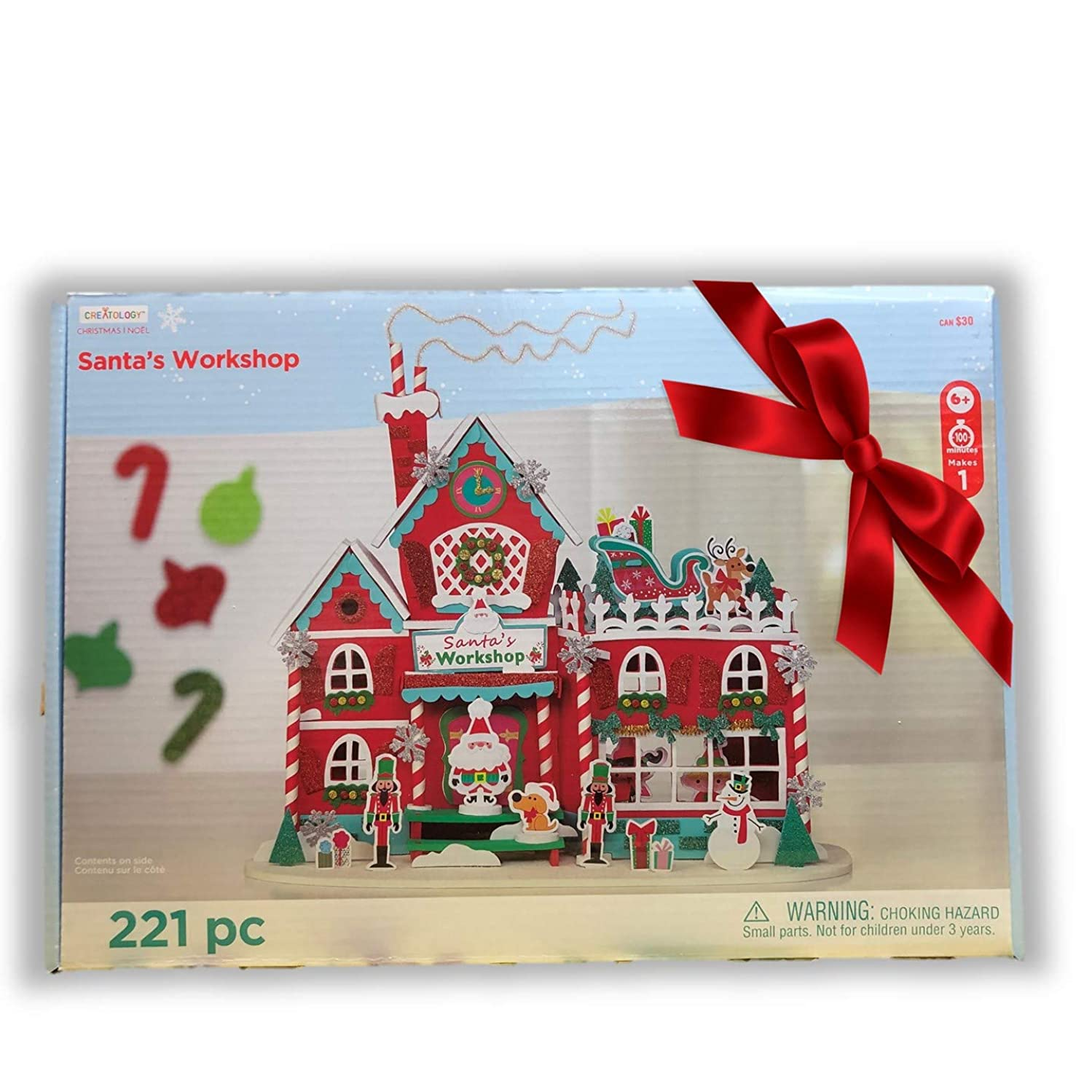 Creatology 221 Piece 3D Santa's Christmas Workshop Foam Kit