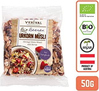Verival Organic Heritage Grains Muesli with Berries (Grab & Go), 50 g