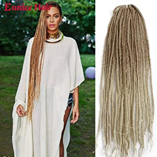 Eunice 6 Packs 30 Inch Long Box Braid Style Crochet Hair 22 Roots/Pack Synthetic Hair Crochet Braid 3S Small Box Braids (27/613)