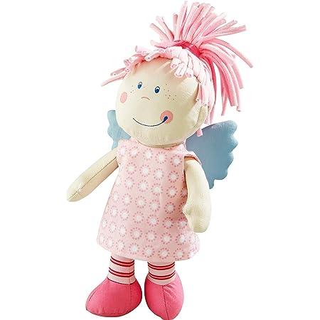 Herbests Kuschelpuppe Weiche Stoffpuppe mit Kleidung und Haaren f/ür Kinder von 0-5 Jahren M/ädchen Geschenke Baby Puppe Weiche Puppe Handmade Textilpuppen Gef/üllte Puppen Rag Dolls,Blau,35CM
