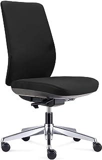 ofiprix | Silla Wind Cromo| Silla de Oficina Ergonómica | Silla Giratoria de Escritorio | Respaldo Regulable | Soporte Lumbar | Color Negro