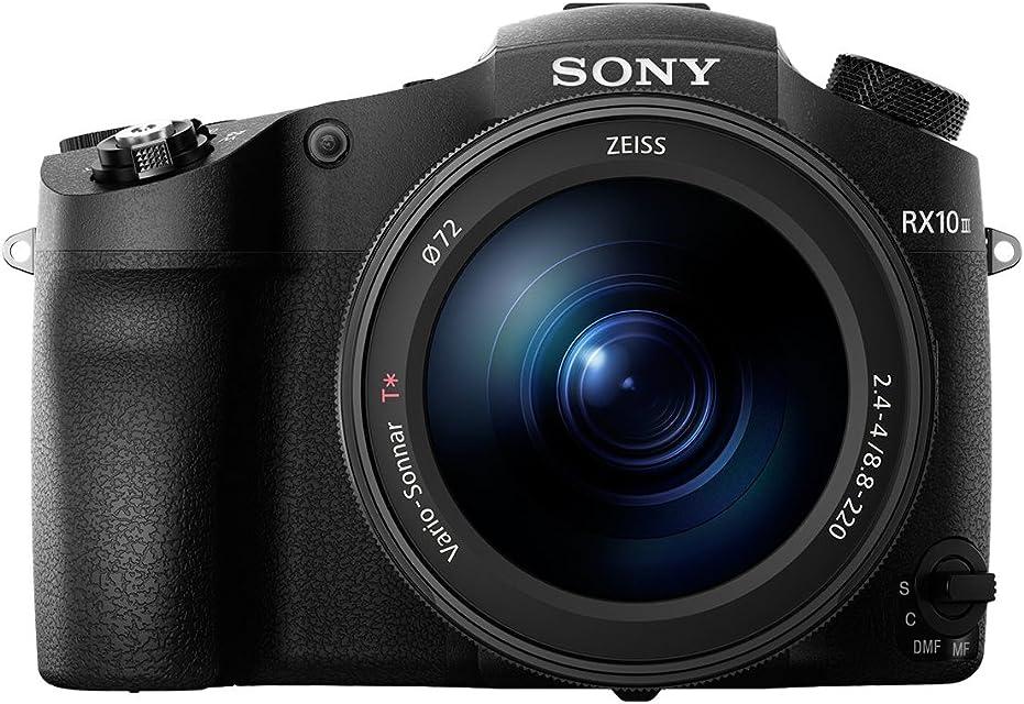 Sony Cybershot DSC-RX10 III - Cámara Digital de 20.1 MP (Lente Zoom de 24-600mm Apertura de F24-4 Motor Bionz X Sensor CMOS 4K Full HD) Negro