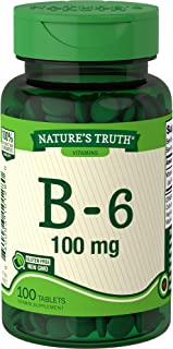 Nature's Truth Vitamin B-6 100mg Tablets, 100 Count