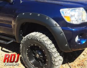 RDJ Trucks PRO-Offroad Bolt-On Style Fender Flares - Fits Tacoma 2005-2011 5' Short Bed - Set of 4 - Aggressive Textured Black