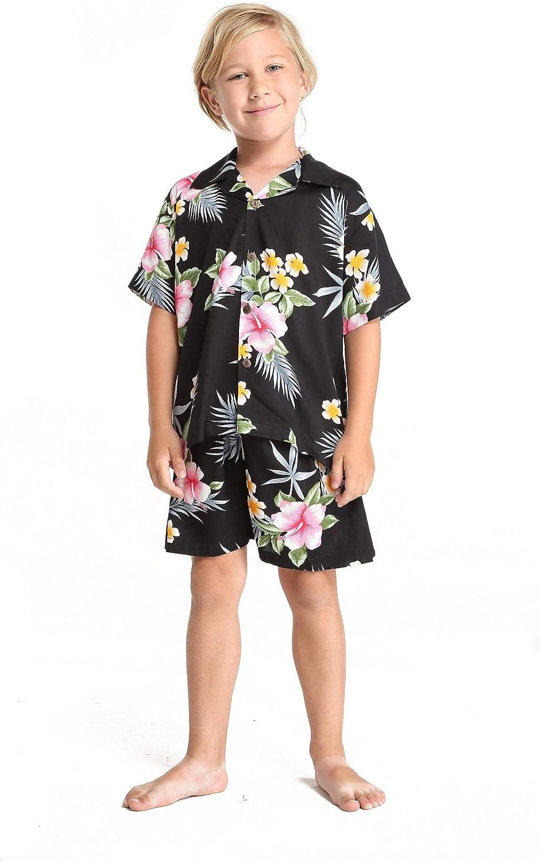 Boy Hawaiian Shirt mart or Cabana Set Red Translated Hibiscus in