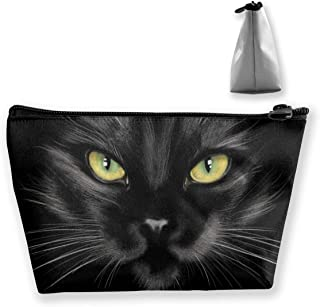 Black Cat Cosmetic Bag, Multifuncition Pencil Case Waterproof Makeup Pouch Travel Toiletry Accessories Organizer with Zipp...