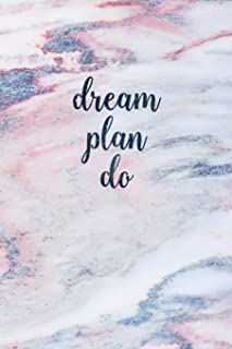 Dream Plan Do: Blank Inspirational Quote Notebook - Quotes on Each Page
