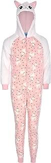 Hooded Onesie Pajamas for Girls | Girls 3D Hooded Onesie Pajama Set