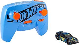 Hot Wheels R/C 1:64 Scale Rechargeable Radio-Controlled Racing Cars for Onor Off-Track Play, Includes Car, Controller & Ad...