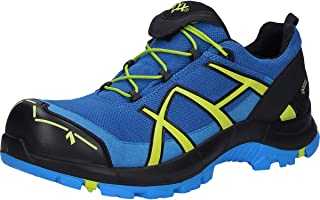 Haix Black Eagle Safety 40.1 Low/Blue-Citrus - Zapatos de seguridad con moderno aspecto de calzado deportivo