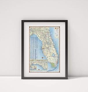 1956 خريطة | خريطة طريق شل في فلوريدا| العنوان: خريطة شل بولاية فلوريدا (عنوان الغطاء). شيل هاي واي ام