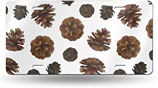 XIEDEC Pine Cones Isolated On White 6x12inchs Feel Metal Tin Sign Plaque for Home,Bathroom and Bar Wall Decor Car Vehicle License Plate Souvenir Car Decoration