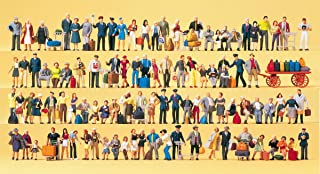 Preiser 13000 Railway personnel,travellers, passers-by. 100 exclusivelypainted miniature figures. Accessories