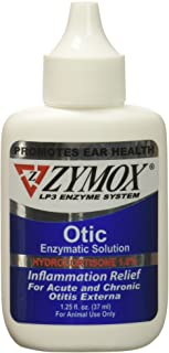 ZYMOX OTIC with Hydrocortisone 1.0 Ear Solution Treatment Bacterial, Viral, and Yeast infections for Dogs and Cats