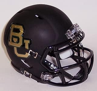 Baylor Bears Black Matte Finish Riddell Speed Mini Football Helmet - New in Riddell Box