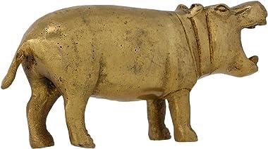 Hippopotamus River Horse Brass Metal Art Gift Home Decor 2 Inches