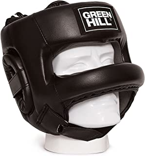 Greenhill Castle Leather Head Guard, Head Gear for Boxing, Kick Boxing, Semi Contact, Thai Kick Boxing, Fighting and Combat Training