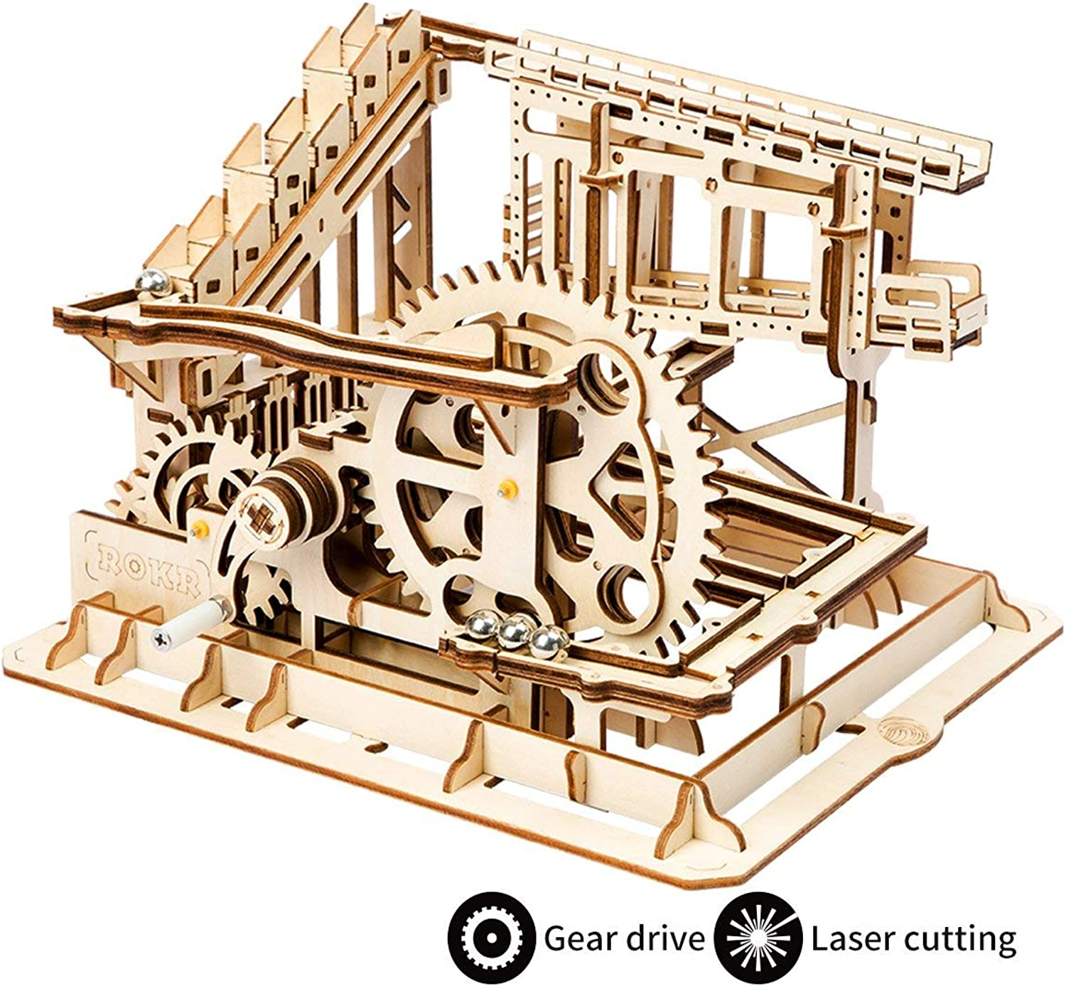 ROKR 3D Wooden Puzzle Handcrafted Marble Run3d Wooden Brain