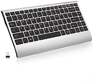 Wireless Keyboard, 2.4GHz Slim Compact Low-Profile Rechargeable Wireless Keyboard for Laptop, Mac, Notebook, PC, Desk...