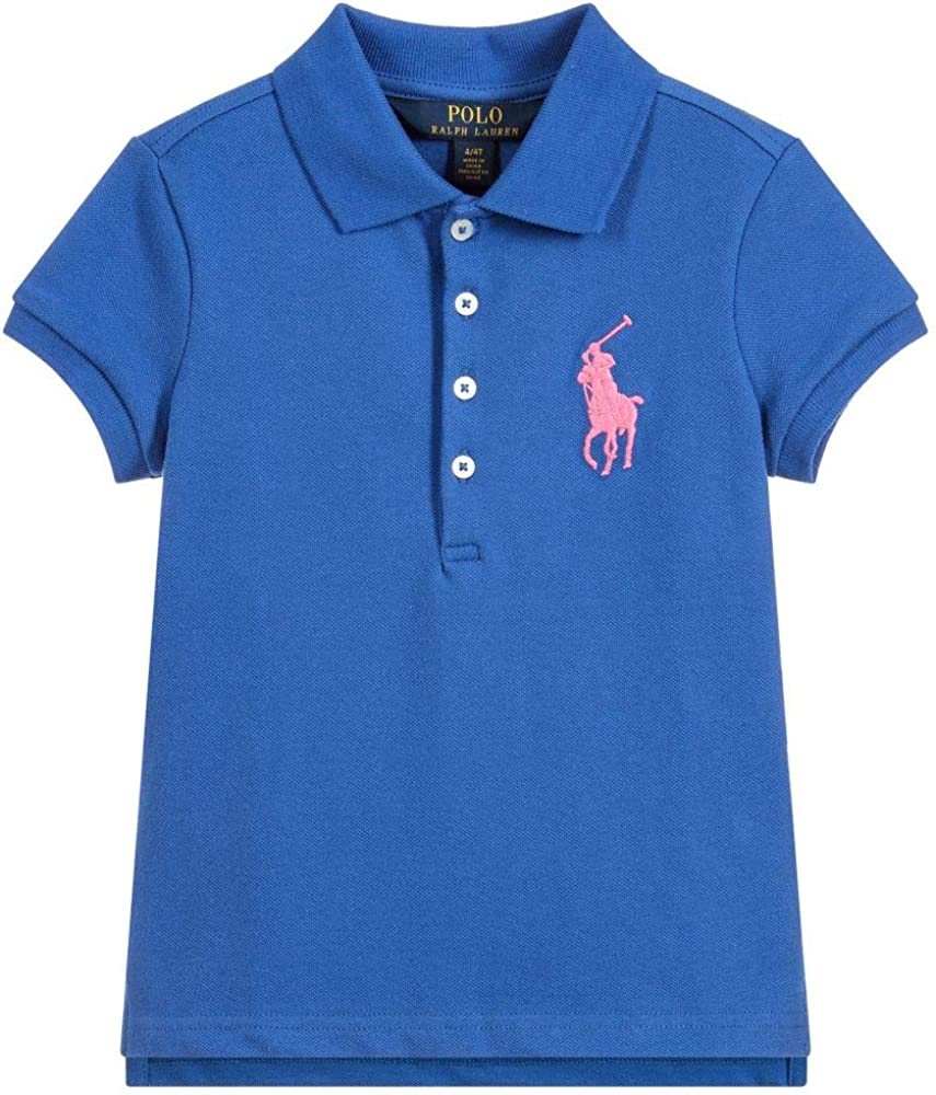 Ralph Lauren Girls Big Pony Polo Shirt Blue Top 2T 2 Max 66% OFF Limited time cheap sale