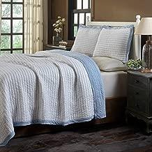 Amity Home Bert Blue Quilt Set (King)