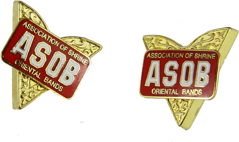 4031780 ASOB Collar Tips Association of Shrine Oriental Bands Shriner Band
