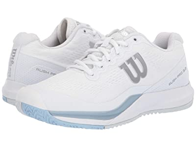 Wilson Rush Pro 3.0 (White/Cashmere Blue/Illusion Blue) Women