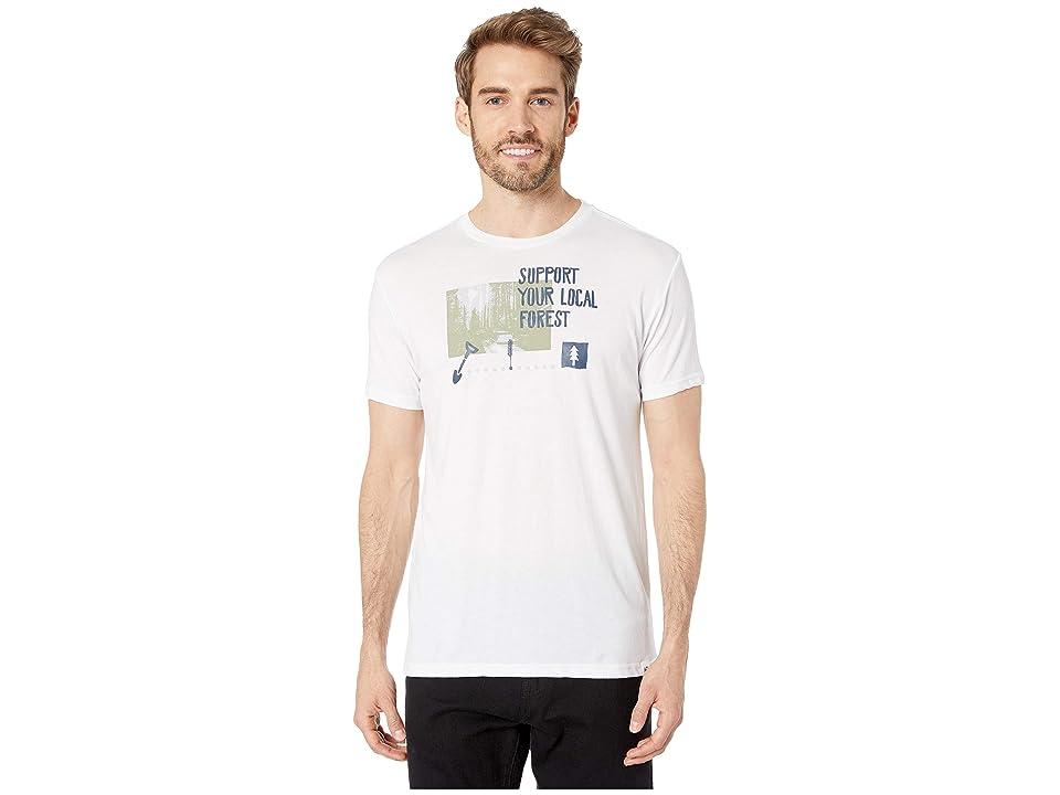 tentree Scenic Support Tee (White) Men